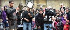 tournage france 3 - fête médiévale de sedan - rapaces